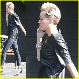 Miley Cyrus: Studio Stop Before Billboard Music Awards