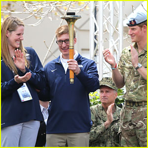 Missy Franklin Meets Prince Harry