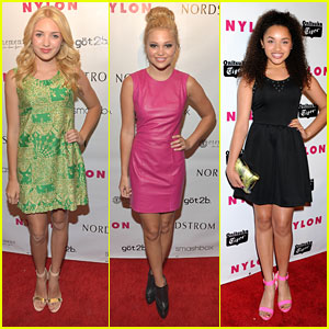 Peyton List & Olivia Holt: Nylon Young Hollywood Party 2013