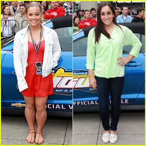 Shawn Johnson & Jordyn Wieber: Indy 500 Duo