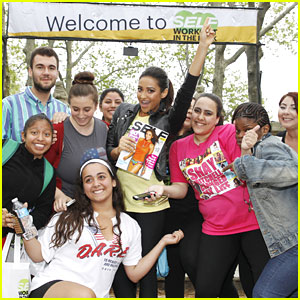 Shay Mitchell: Self's Workout In The Park In NYC!