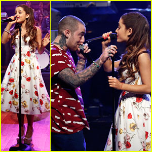 Ariana Grande: 'Jimmy Fallon' Performance with Mac Miller - Watch Now!