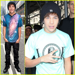 Austin Mahone: 'Extra' Appearance in NYC