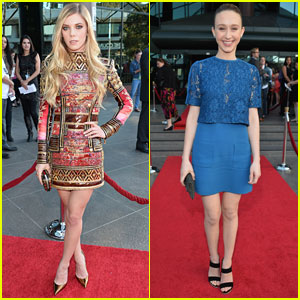 Claire Julien & Taissa Farmiga: 'Bling Ring' L.A. Premiere