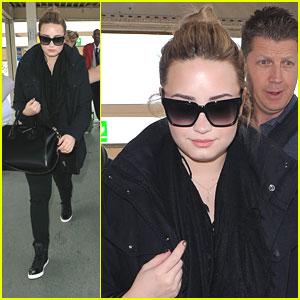 Demi Lovato Departs Heathrow Airport in London