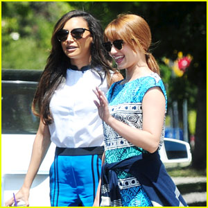 Dianna Agron & Naya Rivera: Little Dom's Lunch Duo!