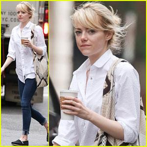 Emma Stone: SoHo Coffee Stop!