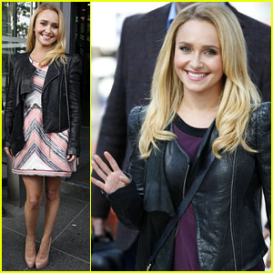 Hayden Panettiere Takes the Train to Manchester