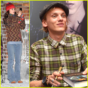 Jamie Campbell Bower Meets 'City of Bones' Fans; Lily Collins Films 'Love, Rosie'