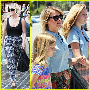 Julianne Hough: TopShop Shopping with Nieces!