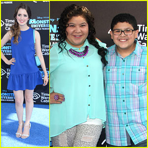 Laura Marano & Raini Rodriguez: 'Monsters University' Premiere with Rico!