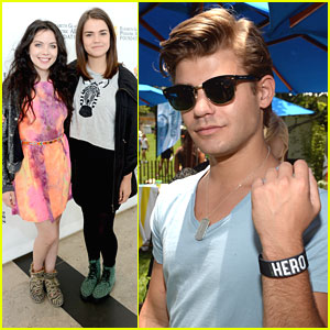 Maia Mitchell & Grace Phipps: EGPAF A Time For Heroes 2013
