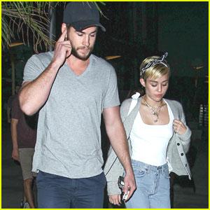 Miley Cyrus & Liam Hemsworth: Monday Movie Date Night