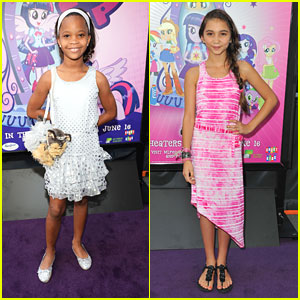 Rowan Blanchard & Quvenzhane Wallis: 'My Little Pony' Pair