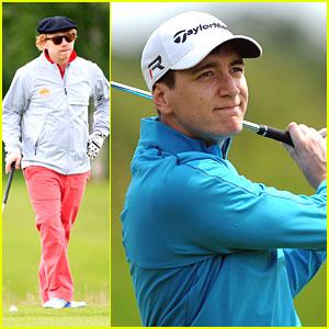 Rupert Grint & James Phelps Golf for 'Shooting Stars'