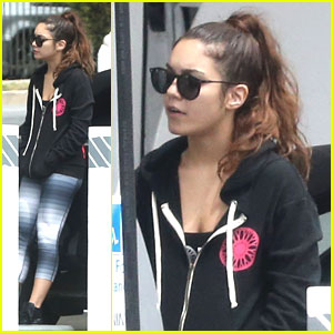Vanessa Hudgens: Gas Station Stop After Soul Cycle Class