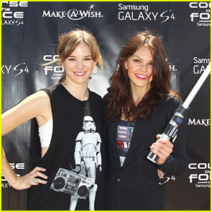Aimee Teegarden & Danielle Panabaker: Course of The Force Lightsaber Relay 2013