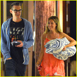 Ashley Tisdale: Pre-Birthday Outing with Christopher French!