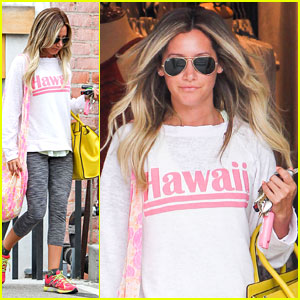 Ashley Tisdale: Solo Shopping in Studio City!