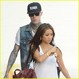 Brenda Song & Trace Cyrus: Urban Outfitters Stop