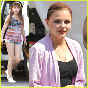 Chloe Moretz: Cheek Bruise on 'Equalizer' Set
