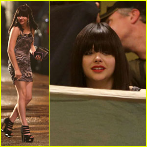 Chloe Moretz: 'The Equalizer' Night Shoot