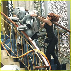 Debby Ryan Kicks Robot Butt!