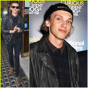 Jamie Campbell Bower Has A 'Curious Night at the Theatre'