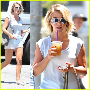 Julianne Hough: Lace Shorts & Iced Tea Stop