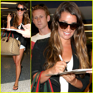 Lea Michele: Back From Vacay!