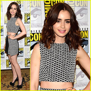 Lily Collins: 'City of Bones' Press Line at Comic-Con 2013