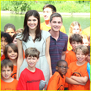 Logan Lerman & Alexandra Daddario: Camp Half-Blood Visit!