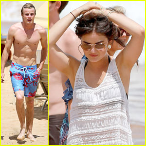 Lucy Hale: More Maui Fun with Shirtless Graham Rogers!