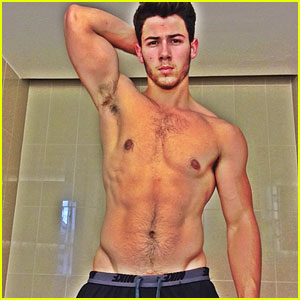 Nick Jonas: Post Workout Pic!