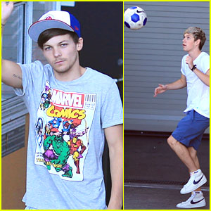 One Direction: Soccer Before Soundcheck in Vancouver