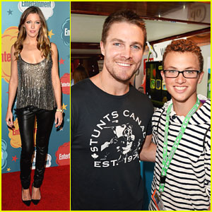Stephen Amell & Katie Cassidy: EW Comic Con 2013 Party Pair