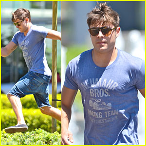 Zac Efron Rushes to Hotel Meeting
