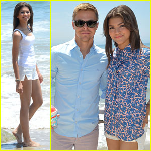 Zendaya Hits the Beach Before Hanging with Derek Hough