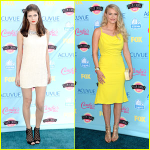 Alexandra Daddario & Leven Rambin - Teen Choice Awards 2013