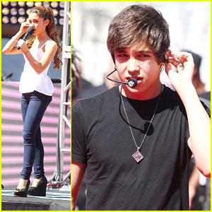 Austin Mahone & Ariana Grande: MTV VMAs Pre-Show Soundcheck