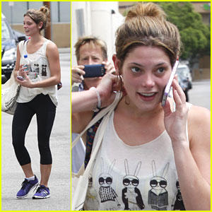 Ashley Greene: Gym Exit