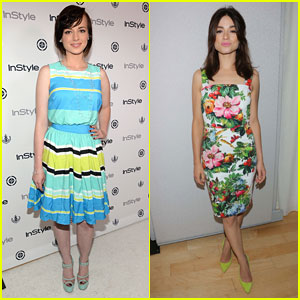 Ashley Rickards & Crystal Reed: InStyle Summer Soiree 2013