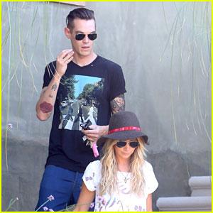 Ashley Tisdale & Christopher French Visit Vanessa Hudgens' Home