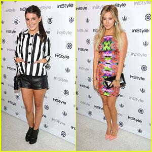 Ashley Tisdale & Shenae Grimes: InStyle Summer Soiree 2013