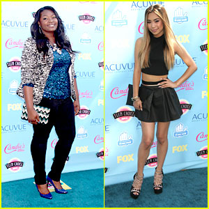 Candice Glover & Jessica Sanchez - Teen Choice Awards 2013