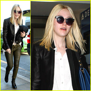 Dakota Fanning: LAX Departure