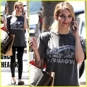 Emma Roberts: American Apparel Shopper