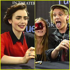 Jamie Campbell Bower: Funny Faces in Philly!