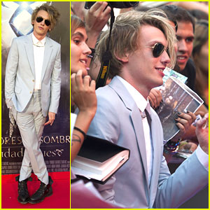 Jamie Campbell Bower: 'Mortal Instruments' In Madrid!