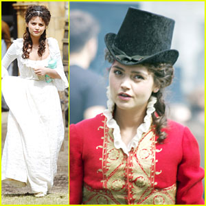 Jenna Coleman Films 'Death Comes To Pemberley'